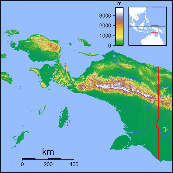 Papua Locator_Topography (Wikimedia Commons)