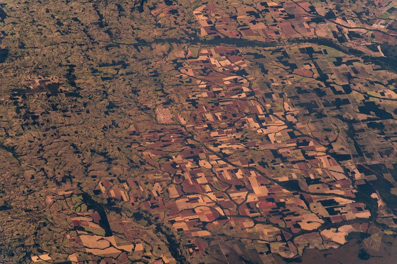 Satellite picture of Amazon deforestation in 2018