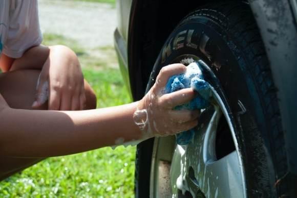 car wash tire