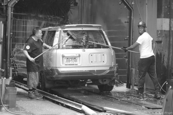 car wash gray