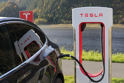 charging tesla car electric